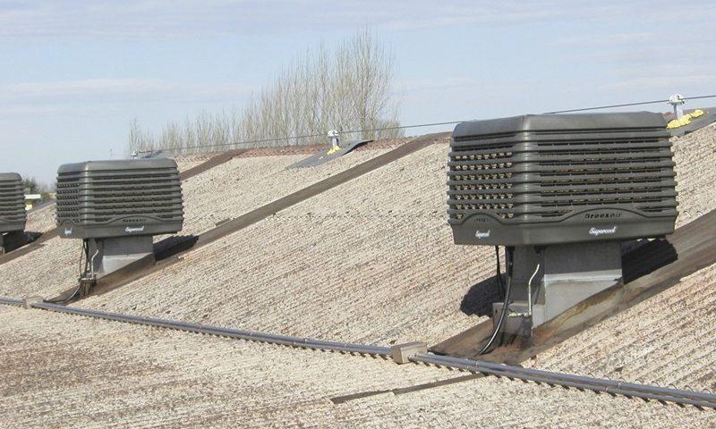 Raffrescatore evaporativo capannone